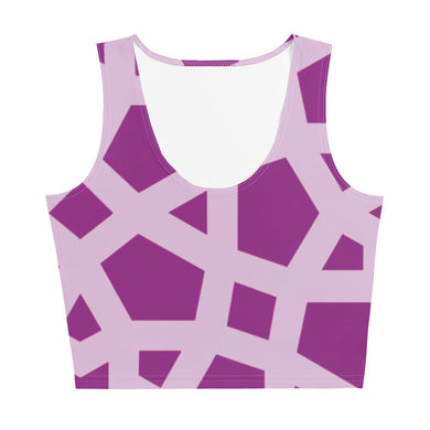 Pink Geometric Crop Top
