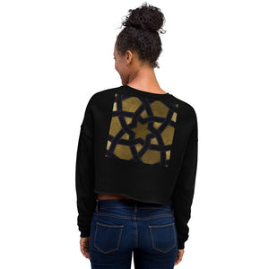 Crop Sweatshirt with our signature gold and black geometric design