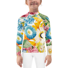 Load image into Gallery viewer, Girl's Botanical Bouquet Rash Guard