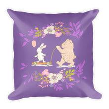 Load image into Gallery viewer, Basic Purple Pillow Your Turn with Bear and rabbit