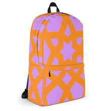 Load image into Gallery viewer, Backpack with bright orange and pink pattern