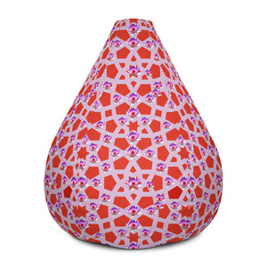 Graphic geometric lotus Bean Bag Chair w/ filling