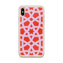 Load image into Gallery viewer, iPhone Case with pink and red geo design