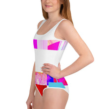 Load image into Gallery viewer, All-Over Print Youth Contemporary Cross Swimsuit