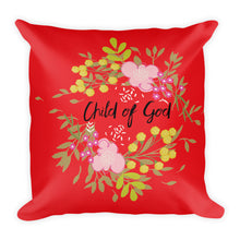 Load image into Gallery viewer, Premium Pillow Child of God Red pillow