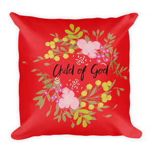 Premium Pillow Child of God Red pillow