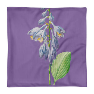 Gorgeous Premium Purple flower and green pillow Case