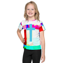 Load image into Gallery viewer, Contemporary Half tone cross Kids T-Shirt
