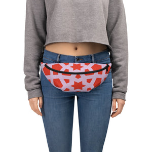 Fanny Pack with red and pink design