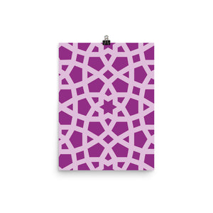 Photo paper pink geometric poster