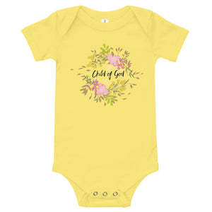 Child of God T-Shirt with floral wreath surround