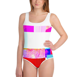 All-Over Print Youth Contemporary Cross Swimsuit