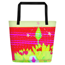 Load image into Gallery viewer, Beach Bag psychedelic lily
