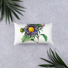 Load image into Gallery viewer, Large purple flower decorative pillow