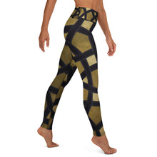 Load image into Gallery viewer, Yoga Leggings with gold and black geometric design
