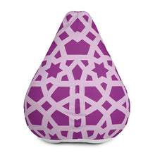 Load image into Gallery viewer, Bean Bag Chair Cover with stand out pink geometric design
