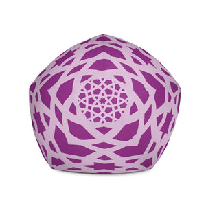 Bean Bag Chair Cover with stand out pink geometric design