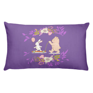 Basic Purple Pillow Your Turn with Bear and rabbit