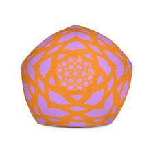 Load image into Gallery viewer, Beautiful orange and pink geometric patter bean Bag Chair w/ filling