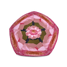 Load image into Gallery viewer, Bold Pink Daisy Bean Bag Chair w/ filling