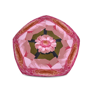 Bold Pink Daisy Bean Bag Chair w/ filling