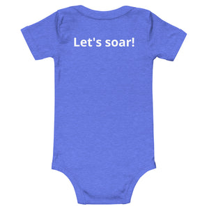 When our wings are grown with love we soar onesie. Blue
