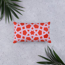 Load image into Gallery viewer, Red Geometric pillow