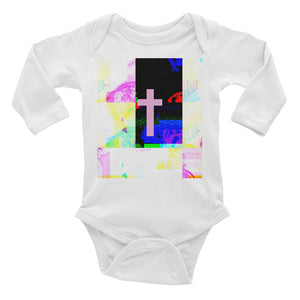 Infant Long Sleeve Contemporary cross Bodysuit