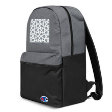 Load image into Gallery viewer, Embroidered Champion Backpack with our signature geometric design
