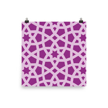 Load image into Gallery viewer, Photo paper pink geometric poster