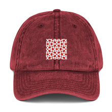 Load image into Gallery viewer, Vintage Cotton Twill Cap with red geometric design