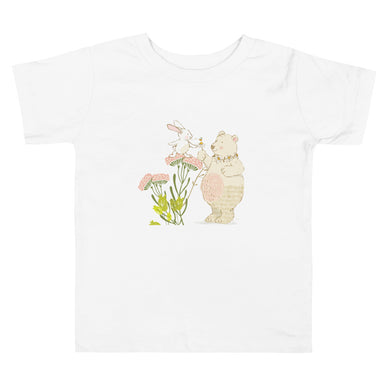 Toddler Short Sleeve Tee Kindness bunny and bear