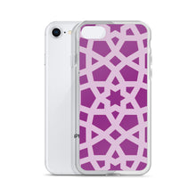 Load image into Gallery viewer, iPhone Case with purple and pink geometric design
