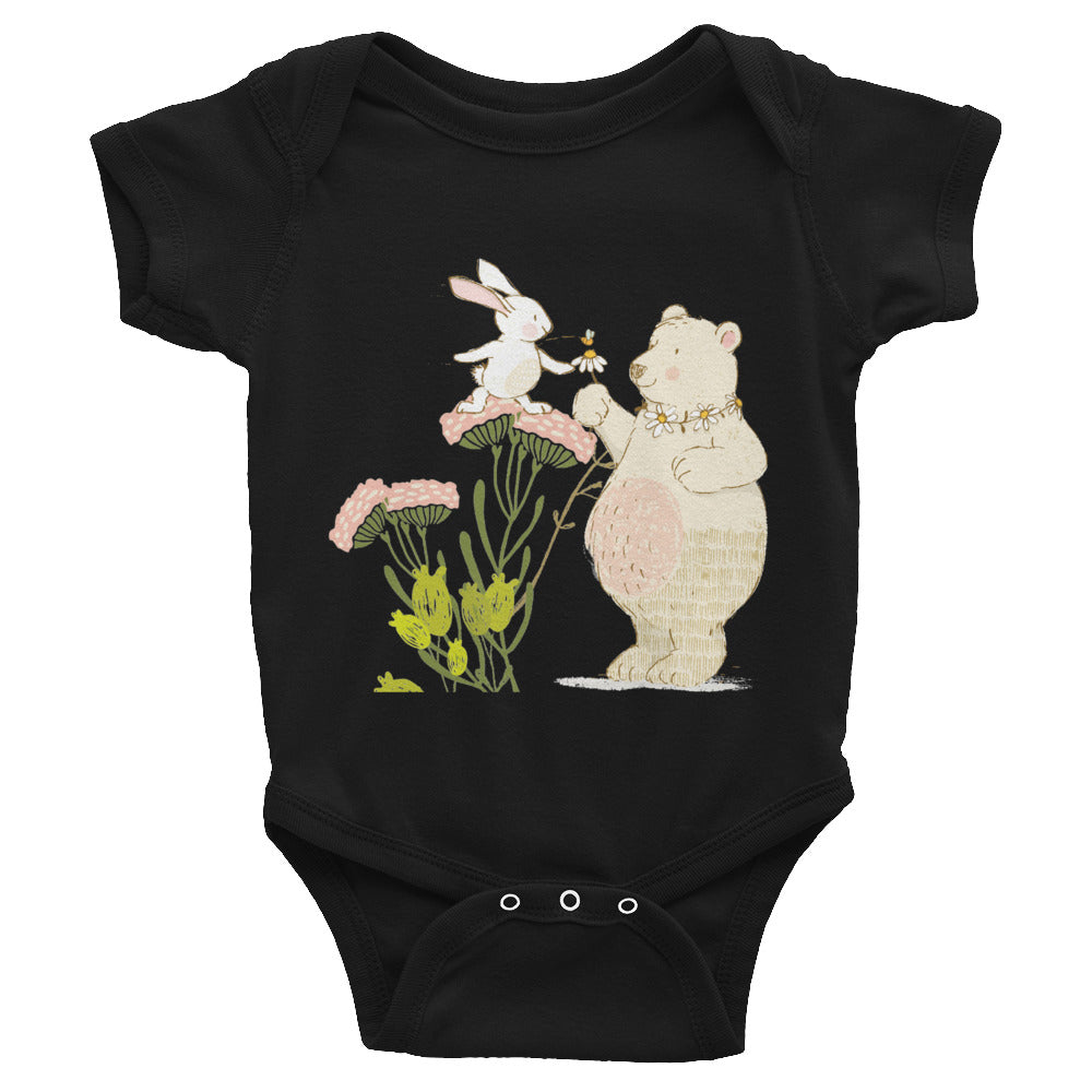 Infant Bodysuit Bear and bunny kindness