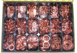 Assortment Copper Washers 6-30 mm