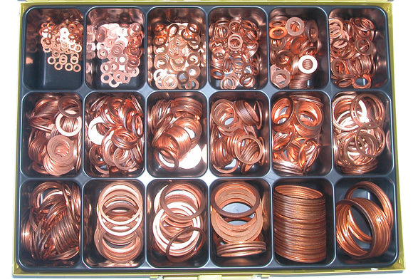 Assortment Copper Washers R 1/8-1 1/2