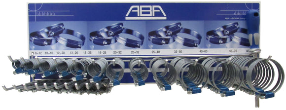 Assortment ABA hose clamps 244 DIN 9mm