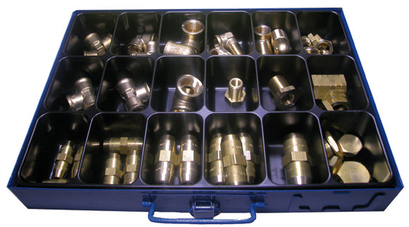 Assortment Raufoss screw fittings/access