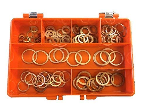 Premium Metric Copper Washers Kit Made Of High Grade Copper Containing 7 Popular Sizes