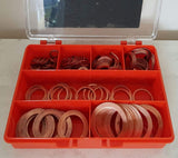 Premium Imperial Copper Washers Kit Made Of High Grade Copper Containing 7 Popular Sizes