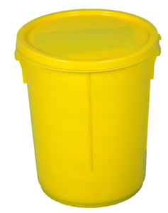 Empty Plastic Drum and Lid (Yellow)
