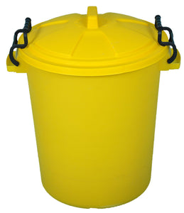 60 Litre Plastic Drum and Lid (Yellow)