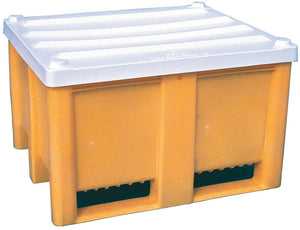 Empty Pallet Box with lid (Yellow)