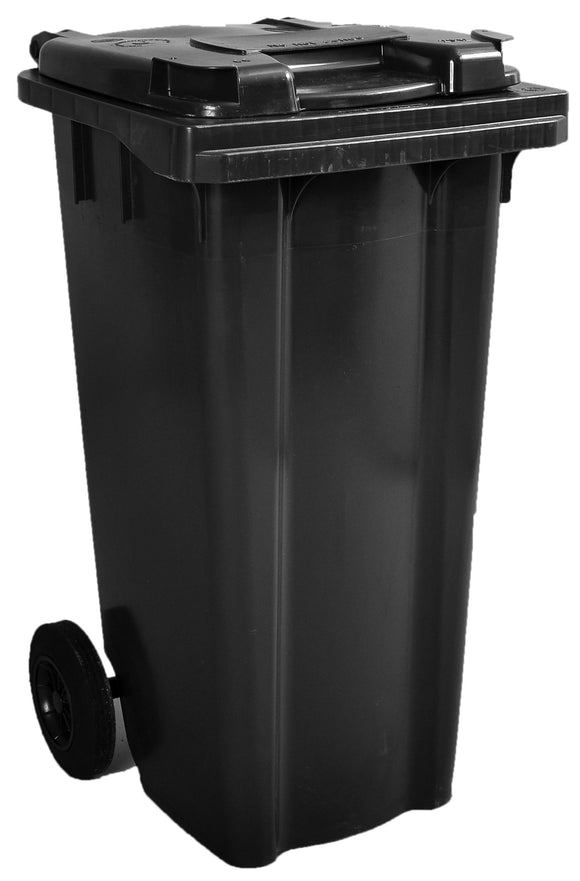 Empty 120 litre Wheelie Bin: Grey