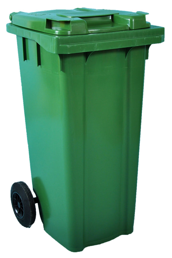 Empty 120 litre Wheelie Bin: Green