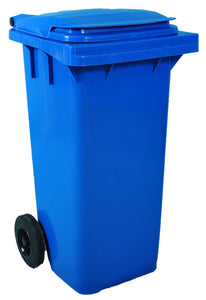 Empty 120 litre Wheelie Bin: Blue