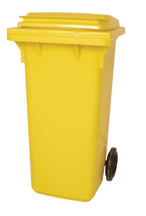 Empty 120 litre Wheelie Bin: Yellow