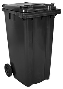 Empty 240 litre Wheelie Bin: Grey