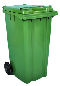 Empty 240 litre Wheelie Bin: Green