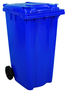 Empty 240 litre Wheelie Bin: Blue